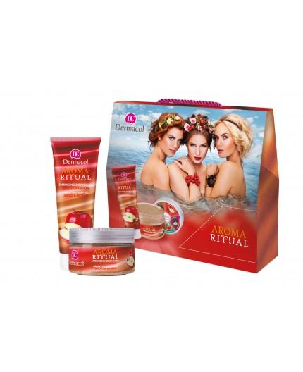 Dermacol Aroma Ritual Apple & Cinnamon Żel pod prysznic 250ml zestaw upominkowy