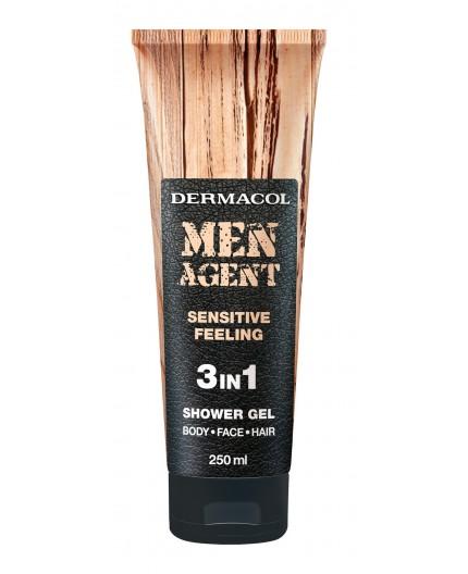 Dermacol Men Agent Sensitive Feeling 3in1 Żel pod prysznic 250ml