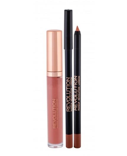 Makeup Revolution London Retro Luxe Gloss Lip Kit Błyszczyk do ust 5,5ml Pure zestaw upominkowy
