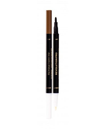 Makeup Revolution London Revolution PRO Day & Night Brow Pen Kredka do brwi 1,6ml Ash Brown