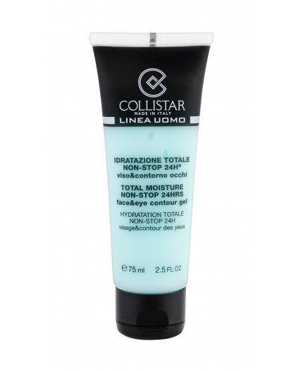Collistar Linea Uomo Total Moisture Non-Stop 24HR Żel do twarzy 75ml
