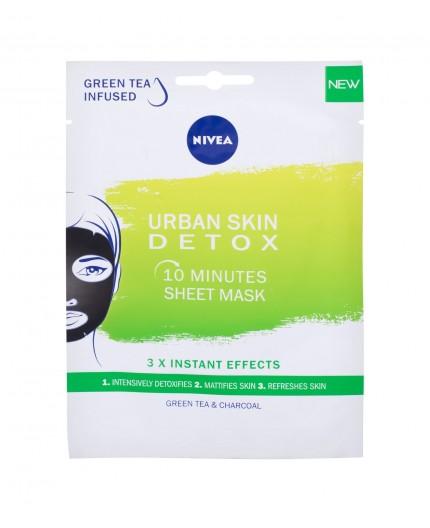 Nivea Urban Skin Detox 10 Minutes Sheet Mask Maseczka do twarzy 1szt