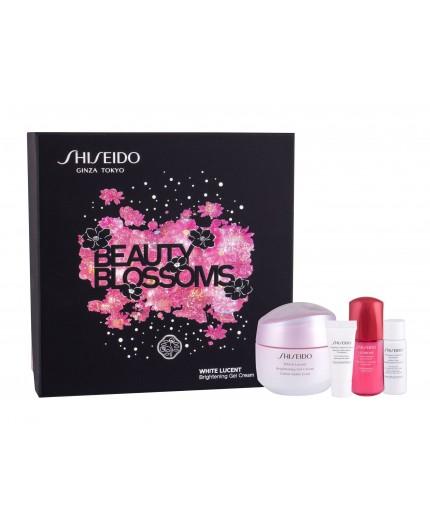 Shiseido White Lucent Brightening Gel Cream Krem do twarzy na dzień 50ml zestaw upominkowy