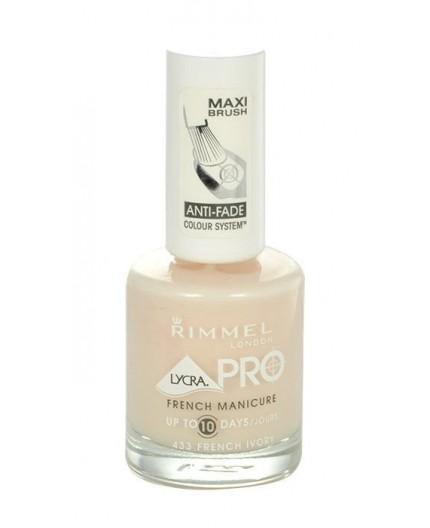 Rimmel London Lycra Pro French Manicure Lakier do paznokci 12ml 433 French Ivory