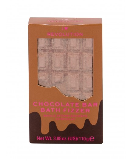Makeup Revolution London I Heart Revolution Chocolate Bar Bath Fizzer Pianka do kąpieli 110g Chocolate