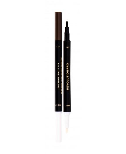 Makeup Revolution London Revolution PRO Day & Night Brow Pen Kredka do brwi 1,6ml Warm Brown