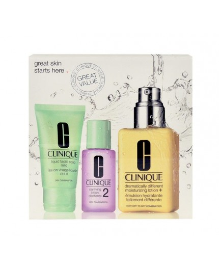 Clinique Dramatically Different Moisturizing Lotion  Krem do twarzy na dzień 125ml zestaw upominkowy