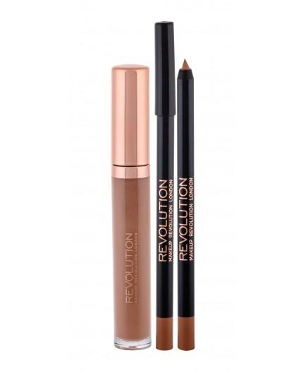 Makeup Revolution London Retro Luxe Gloss Lip Kit Błyszczyk do ust 5,5ml Opulence zestaw upominkowy