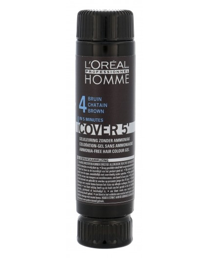 L´Oréal Professionnel Homme Cover 5´ Farba do włosów 3x50ml 4 Medium Brown