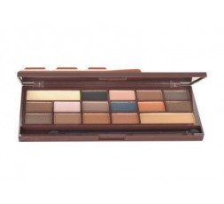 Makeup Revolution London Ultra Eyeshadows Palette Flawless Matte Cienie do powiek