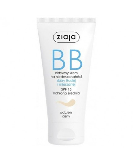 Ziaja BB Cream Oily and Mixed Skin SPF15 Krem BB 50ml Light