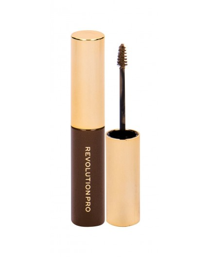 Makeup Revolution London Revolution PRO Brow Volume And Sculpt Gel Żel i pomada do brwi 6ml Warm Brown