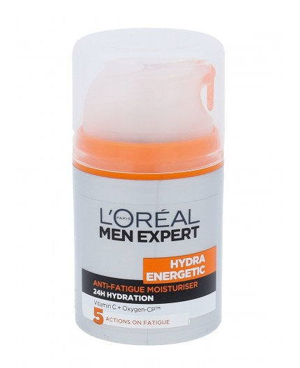 L´Oréal Paris Men Expert Hydra Energetic Daily Moisturising Lotion Krem do twarzy na dzień 50ml